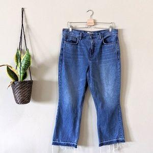 FREE PEOPLE Raw Hem Ankle Crop Jean Size 31